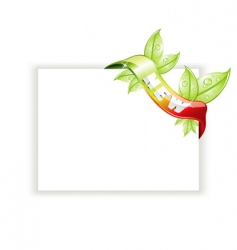 White page with nature tag vector