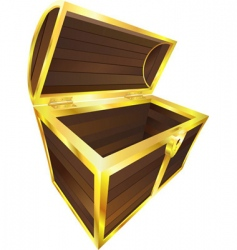 wooden treasure vector image