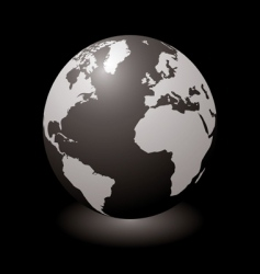 world black glow vector image