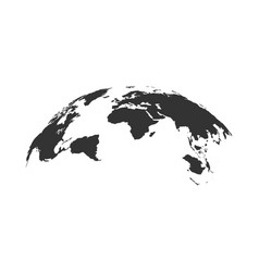 world map globe isolated vector image