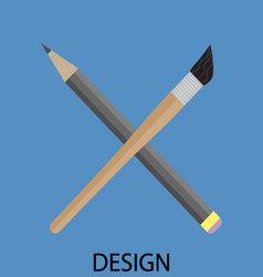 Design icon flat vector image