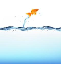 goldfish water vector image