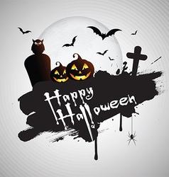 Grunge Halloween background vector image vector image