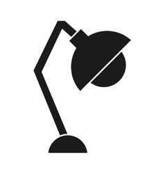 lamp office silhouette icon vector image