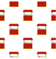 Red carnival fair booth pattern seamless vector