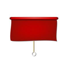 Vintage window sun blind cloth in red design vector