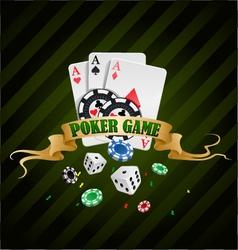 Poker gambling chips poster vector