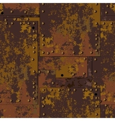 Rust plate background vector image vector image
