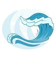 Sea wave symbol 2 vector image vector image
