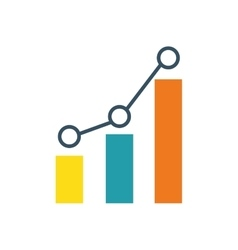 statistic graphic chart vector image vector image