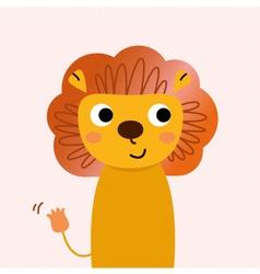 Beautiful cartoon Lion character vector image vector image