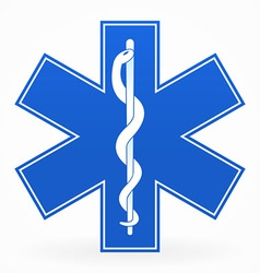 blue medical sign vector image vector image