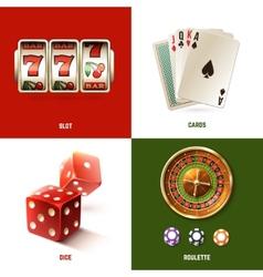 Casino Design Concept vector image vector image