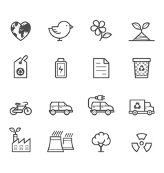 Ecology icons vector image vector image