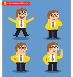 Office emotions poses vector image