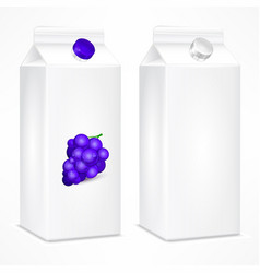 packing template for grapes vector image vector image