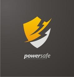 Power safe creative logo design vector image vector image