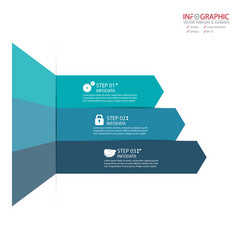Abstract element infographics 3 option design vector