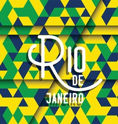 Abstract geometric Rio de Janeiro background 2806 vector