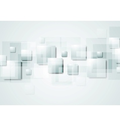 Abstract grey hi-tech background with squares vector