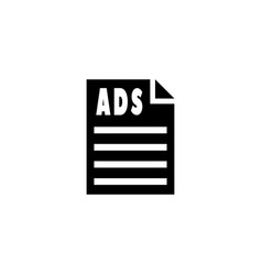 Ads paper icon vector