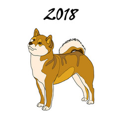 An image of a dog breed of vector