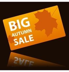 Autumn big sale card vector
