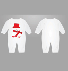 Baby suit with snowman vector