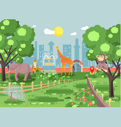 banner landscape scenery vector image