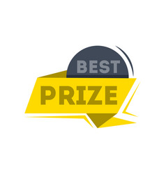 Best prize ribbon banner in flat style vector