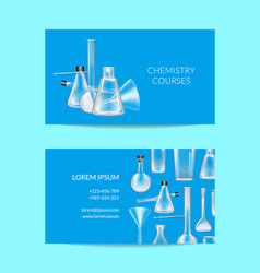 business card template for chemistry or vector image
