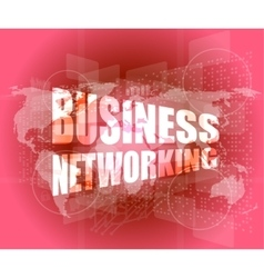 Business networking icon on digital screen vector