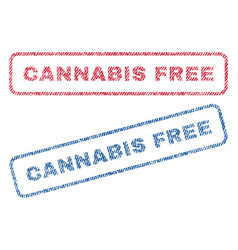 cannabis free textile stamps vector image