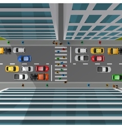 City Traffic Top View vector
