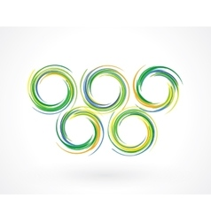 Colored rings vector