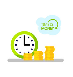 concept of design time is money vector image