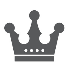 crown glyph icon jewellery and accessory corona vector image