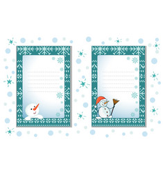 decorative cards for christmas and the new year vector image