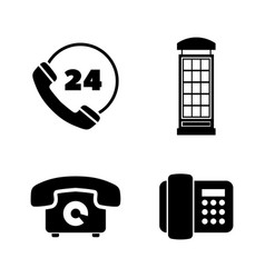 different phones simple related icons vector image
