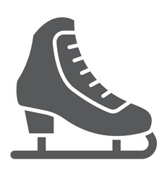figure skating glyph icon activity and sport vector image