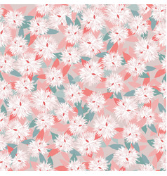 Floral seamless pattern flower background garden vector