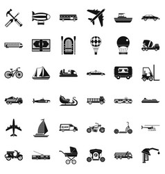 Good transport icons set simple style vector