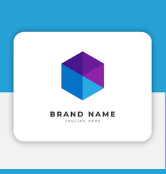 hexagon logo design inspiration vector image