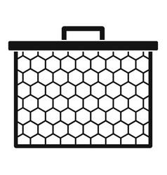 honeycombs icon simple style vector image