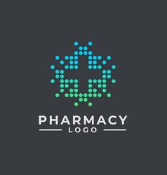 hospital logo design pharmacy logo design health vector image