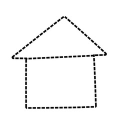 House real estate symbol cartoon vector