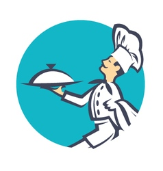 Icon with chef vector