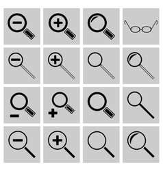 Icons search and scaling vector image