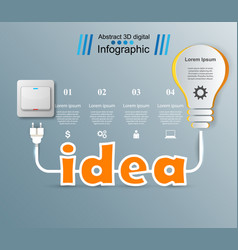 Infographic design bulb idea light icon vector