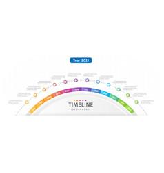 infographic modern timeline diagram calendar vector image